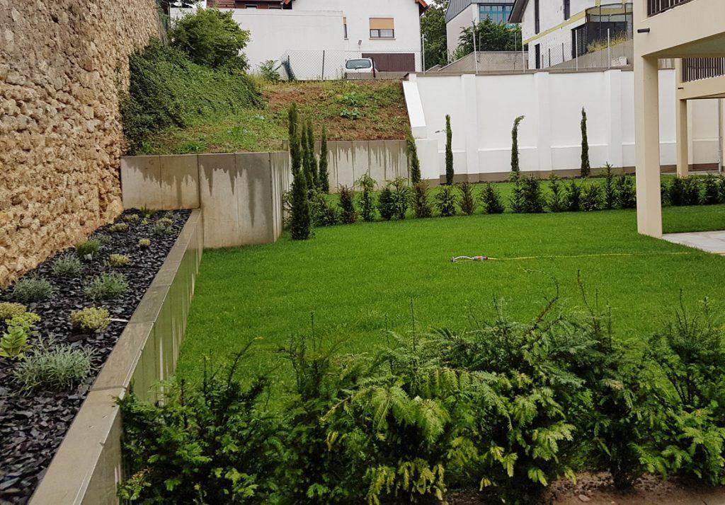 Bepflanzung für Neubauobjekte